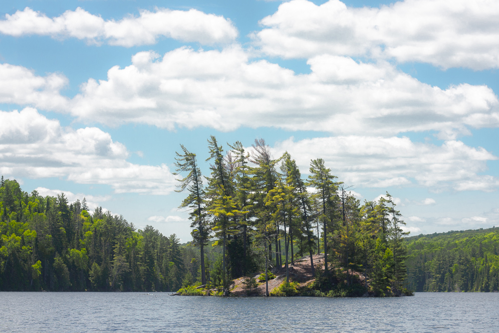 A Group of Seven Island on Tommy Thompson Lake