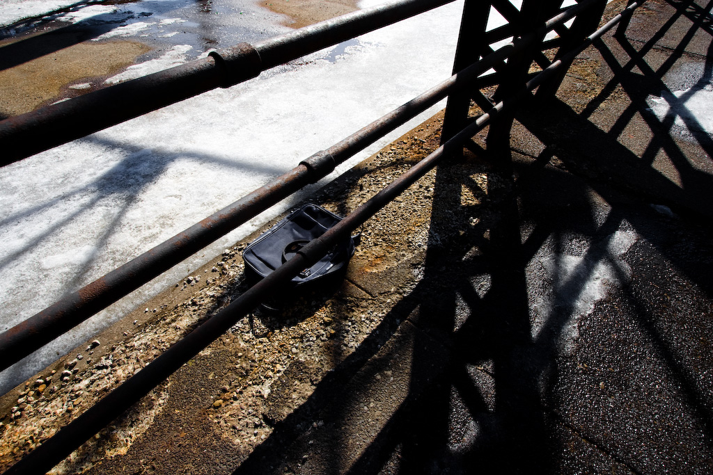 Abandoned Suitcase on Eastern Ave Bridge
