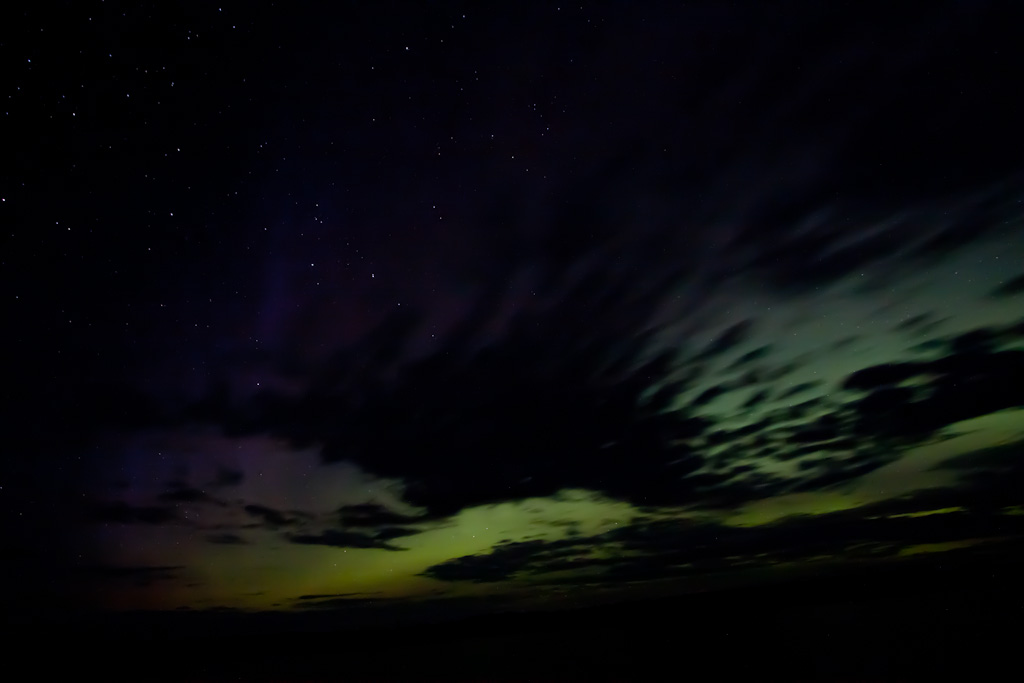 Clouds and Aurora