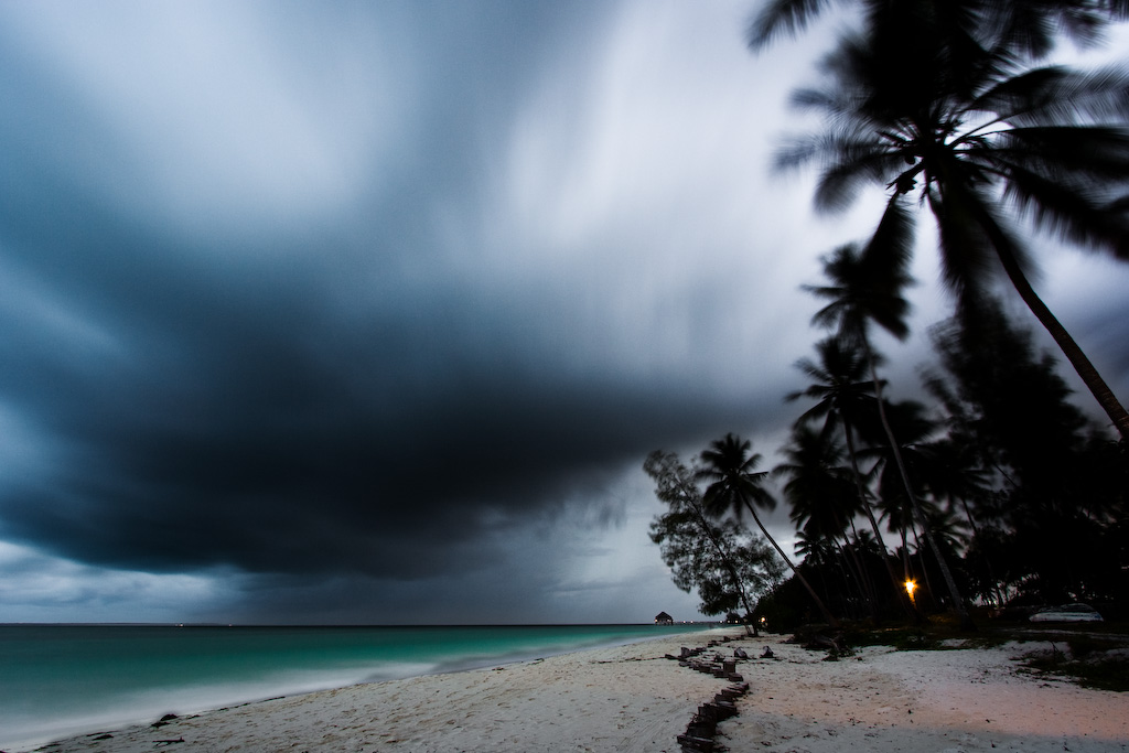 Storm approaching the Tamarind Beach Hotel