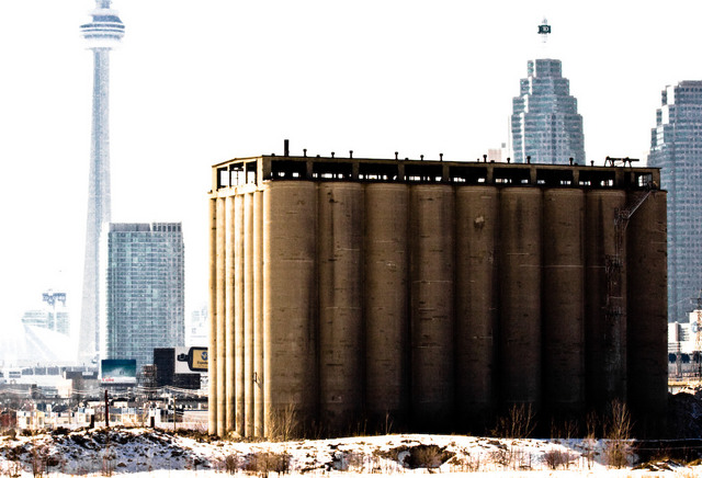 Abandoned Silo on the Waterfront
