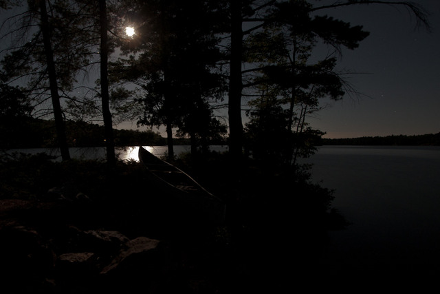 Canoe and Moonlight