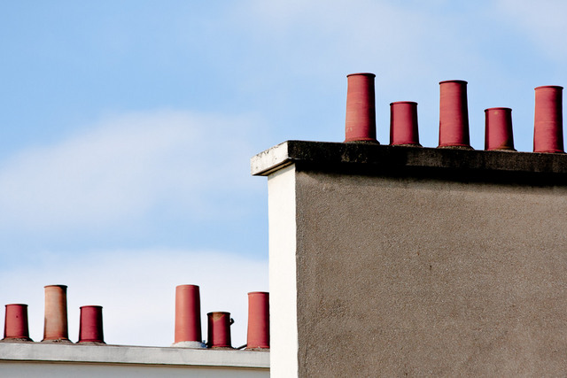 Chimneys upon Blue
