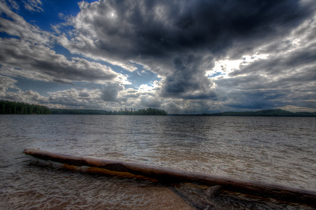 Cloud over Opeongo (HDR)