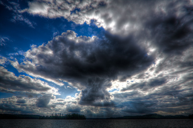 Cloud over Opeongo 2 (HDR)