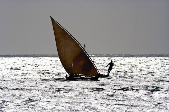 Dhow on the Indian Ocean