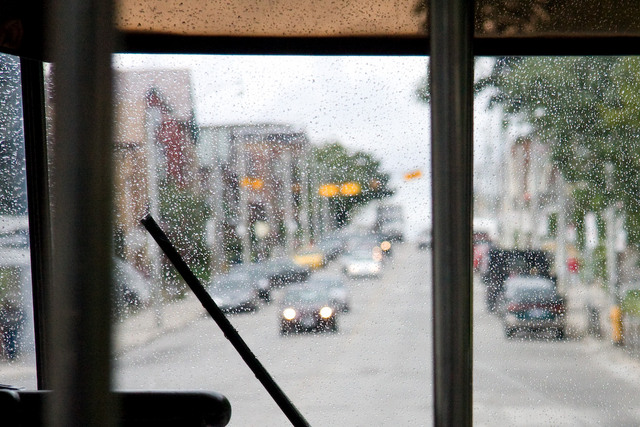 Express Bus Windshield