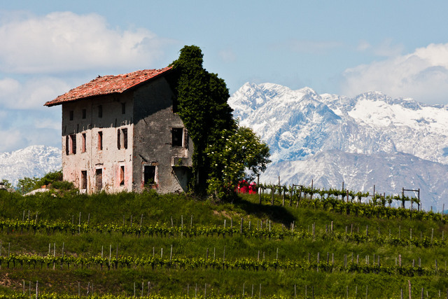 Farmhouse overlooking Slovenia