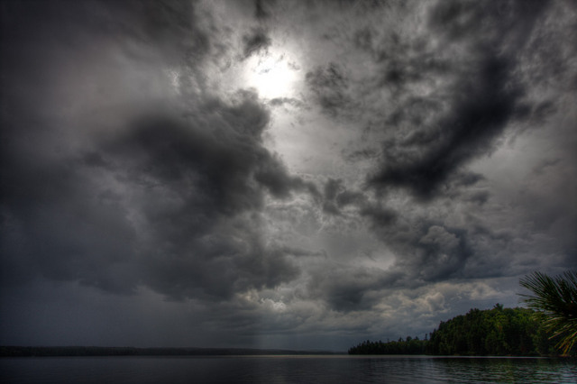 Storm approaching Opeongo Narrows (HDR)